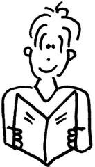 Junge liest - Junge, Bub, Mensch, Kind, Jugendlicher, lesen, Buch