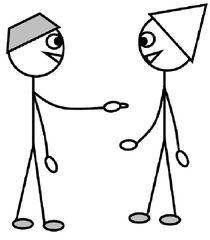 Personalpronomen #2 : du - Personalpronomen, du, Zeichnung, Clipart, DaF, Übung