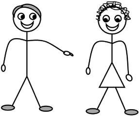 Personalpronomen #4 : sie (weiblich Singular) - Personalpronomen, sie, Singular, weiblich, Zeichnung, Clipart, DaF, Übung