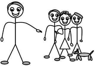 Personalpronomen #8 :sie (Plural) - Personalpronomen, sie, Plural, Zeichnung, Clipart, DaF, Übung