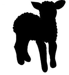 Lamm -  Umriss - Schaf, Lamm, Lämmchen, Säugetier, Haustier, Vierbeiner, Ostern, Illustration, gestalten, jung, Jungtier, Umriss, schwarz, Umriss, Vorlage, stehend
