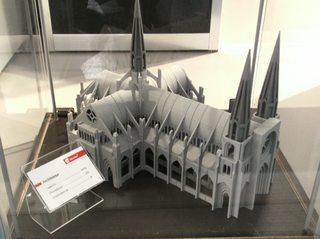Druckerzeugnis aus einem 3D Drucker#6 - 3D Drucker, Druckerzeugnis, Kunstoff, Bauwerk, Architektur, Dom