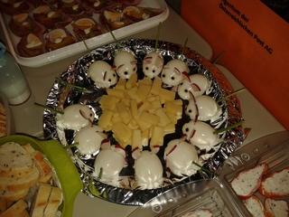 Eiermäuse - Buffet, Eier, kalte Platte, anrichten, Dekoration, Ostern, Osterbrunch, Osterbuffet