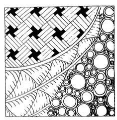 Kritzelmuster #2 - Kritzelmuster, Muster, Formen, Zeichnen, Konzentration, Zentangles, Zendangle, Zendoodle, Zendala