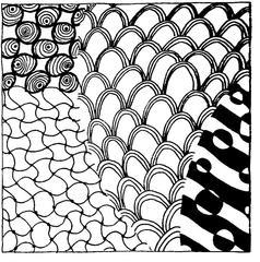 Kritzelmuster #3 - Kritzelmuster, Muster, Formen, Zeichnen, Konzentration, Zentangles, Zendangle, Zendoodle, Zendala