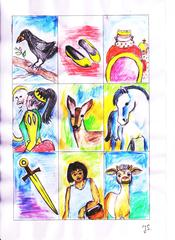 Märchen - König, Prinz, Prinzessin, Märchen, Zauberer, Fee, Gans, Pferd, Reh, Räuber, Kugel, Schwert, Königin, Drache