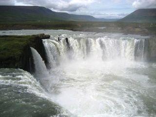 Goðafoss Wasserfall in Island - Island, Wasserfall, Goðafoss