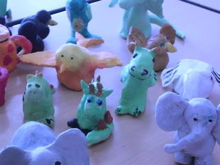 Tonfiguren - Arbeiten mit Ton, Tiere, Zootiere, Werken Klasse 4