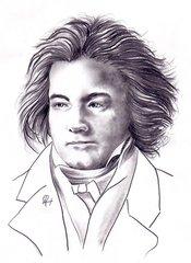 Ludwig van Beethoven - Bleistiftzeichnung - Beethoven, Komponist, Komponistenporträt, Komponistenportrait