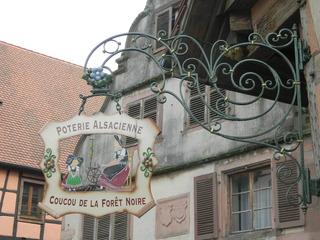 Poterie alsacienne - Elsass, Alsace, poterie, Töpferei, panneau, Ausleger, Reklame, Werbung