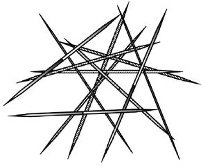 Mikado - Mikado, Spiel, Spielzeug, Kinderspiel, spitz, Stäbchen, Holz, Geduld, Geschicklichkeit, Anlaut M, Zeichnung