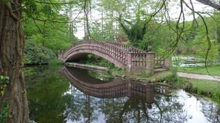 Brücke - Brücke, See, Park, Parklandschaft, englischer Garten, Ruhe, Meditation, Spiegelung, Wasser, Entspannung, Reflexionen, Reflexion