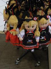 Souvenir d'Alsace - Frankreich, Alsace, Elsass, souvenir, poupée, Puppe, blond, cliché