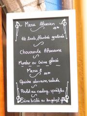 Menu Alsacien - Frankreich, Alsace, Elsass, menu, spécialité, Spezialität, restaurant