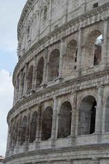 Kollosseum in Rom  - Wahrzeichen, Italien, Rom, Sehenswürdigkeiten, Römer, Geschichte, Gladiatoren, Amphitheater, Theater, Rundtheater, Ruine, Kolosseum, Colosseum, Geografie, Belustigung, antik, Außenansicht