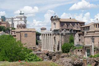 Forum romanum - antik, Marktplatz, Rom, Ausgrabung
