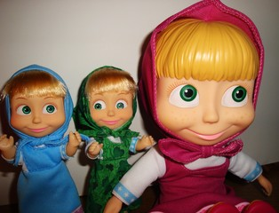 drei Maschas - Puppe, Mascha, Souvenir, Trickfilm, Russland, russisch