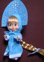 Mascha-Snegurotschka_seitlich_#2 - Mascha, Snegurotschka, Puppe, Souvenir, Trickfilm, Russland, russisch