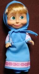 Mascha im blauen Kleid - Mascha, Puppe, russisch, Russland, Souvenir, Trickfilm