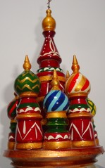 Spielzeug_Orthodoxe Kirche - Spielzeug, Russland, russisch, Spielzeug, Holz, Zwiebelturm, Architektur, Baudenkmal, orthodox, Kirche