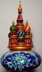 russische Spieluhr - Spieluhr, Russland, russisch, Spielzeug, Holz, Zwiebelturm, Architektur, Baudenkmal, orthodox, Kirche