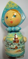 russische Holzpuppe  - Souvenir, Russland, Holzpuppe, Puppe, Holz, Kunsthandwerk