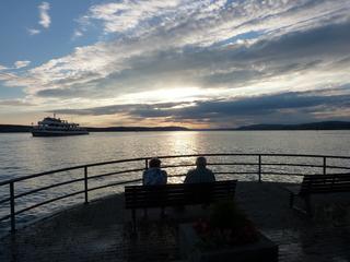 Sonnenuntergang - Sonnenuntergang, See, Abend, Meditation, Horizont, Himmelserscheinung, Sonne, Abendrot, Schreibanlass, Schiff