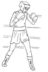 Boxen sw - boxen, Boxer, Boxerin, Sportler, Sportlerin, Boxsport, Sport, olympisch, olympische Disziplin, Kampfsportart, Kampf, kämpfen, Handschuh, Faust, Fäuste, Boxkampf, Weltmeisterschaft, Amateur, Profi, Zeichnung, bewegen, Bewegung, trainieren, Training, Wörter mit x