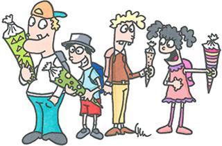 Einschulung - Schule, Einschulung, Schultüte, Fest, erster Schultag, ABC-Schützen, Erstklässler, Zuckertüte, Schulanfang