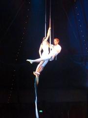 Fliegendes Trapez #2 - Zirkus, Wanderzirkus, Manege, Spielstätte, Vorführung, Akrobatik, Luftakrobatik, Trapez, Artisten, Pirouetten, Salti