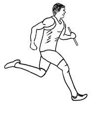 Zeichnung Staffellauf sw - Staffel, Staffelläufer, Staffellauf, Lauf, laufen, Läufer, Sport, Sportler, Sprint, Sprinter, sprinten, trainieren, Training, Grundübung, Zeichnung, bewegen, Bewegung, Anspannung, anspannen, Leichtathletik, Leichtathlet, olympische Disziplin, rennen