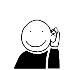 Piktogramm *zuhören* für die Phasen des Unterrichts - Piktogramm, Piktogramme, Unterricht, Unterrichtsphasen, Symbole, Zeichen, Arbeitsformen, Einzelarbeit, Partnerarbeit, Gruppenarbeit, Unterrichtsgespräch, Lesen, Schreiben, Klassengespräch, Flüstern, Zuhören, Stillarbeit, Bilder, Klassenraumbilder
