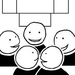 Piktogramm *Unterrichtsgespräch* für die Phasen des Unterrichts - Piktogramm, Piktogramme, Unterricht, Unterrichtsphasen, Symbole, Zeichen, Arbeitsformen, Einzelarbeit, Partnerarbeit, Gruppenarbeit, Unterrichtsgespräch, Lesen, Schreiben, Klassengespräch, Flüstern, Zuhören, Stillarbeit, Bilder, Klassenraumbilder