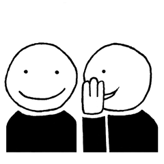 Piktogramm *flüstern*  für die Phasen des Unterrichts - Piktogramm, Piktogramme, Unterricht, Unterrichtsphasen, Symbole, Zeichen, Arbeitsformen, Einzelarbeit, Partnerarbeit, Gruppenarbeit, Unterrichtsgespräch, Lesen, Schreiben, Klassengespräch, Flüstern, Zuhören, Stillarbeit, Bilder, Klassenraumbilder