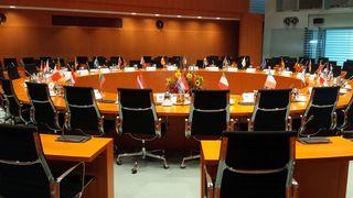 Konferenzsaal im Bundeskanzleramt - Bundeskanzleramt, Berlin, Regierungssitz, Regierung, Bundesregierung, Demokratie, Bundesbehörde