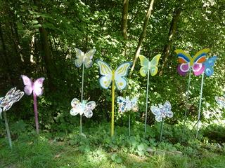 Schmetterlinge#1 - Schmetterlinge, Holz, sägen, schleifen, schmirgeln, bemalen, bekleben