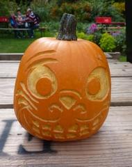 Kürbisgeist - Kürbis, Gemüse, Herbst, orange, Halloween, Horror, erschrecken, Gesicht, Jahreszeit, Kürbisgeist, schnitzen, gruselig