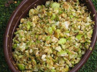Äpfel zerkleinert - Apfelsaft pressen #3 - Äpfel, Apfelsaft, Ernte, Herbst, Obst