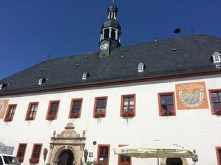 Rathaus Marienberg - Rathaus, Architektur, Sonnenuhr, Turm