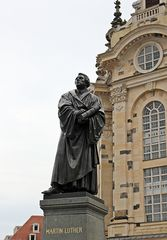 Martin Luther, Dresden - Martin Luther, Denkmal, Dresden, Reformator, Reformation, Kirche, Religion, Kunst, Bibelübersetzung, Protestant, evangelische Kirche, Augustinermönch, Theologieprofessor