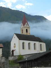 Sankt Katharinaberg - Südtirol, Schnalstal, Pfarrkirche, Berg, Wolke