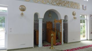 Moschee #2 - Moschee, Islam, Kanzel, Andacht, Gebetsraum, Minbar, Weltreligion, Sakralbauten, Religion