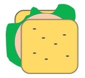 Sandwich - Sandwich, Stulle, Brot, Schnitte, School lunch, Brotscheibe, Belag, Wurst, Schinken, Salat, Zwischenmahlzeit, Fast Food, Brotgericht, Convenience Food