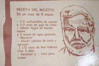 Rezept für einen Mojito - mojito, receta, Cuba, cubano, hierba buena, ron, Hemingway