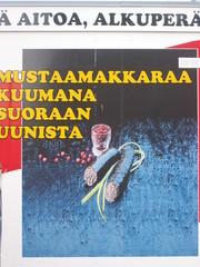 finnisches Schild 8 - Sprachen, Finnisch, Werbung