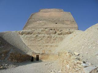 Kulttempel an der Pyramide von Meidum - Totentempel, Altes Reich, Pyramide, Meidum, Ägypten, Grabstätte, Totenkultur, Sakralarchitektur, Bauwerk