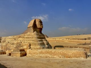 Sphinx von Gizeh - Sphinx, Gizeh, Ausbesserungen, Altes Reich, Statue, Fabelwesen, ägyptische Mythologie