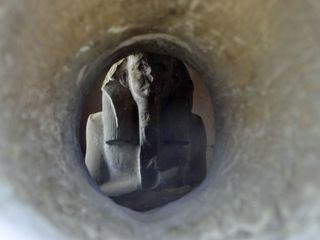Serdab des Djoser in Sakkara - Djoser, Serdab, Sakkara, Ägypten, Altes Reich, Pharao, König, erster Erbauer der Stufenpyramide