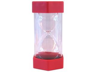 Sanduhr rot - Sanduhr, Eieruhr, Zeit, Zeitmesser, Uhr, Sand, Minuten, messen, Dauer, Illustration, rieseln, laufen, Glas, gelb