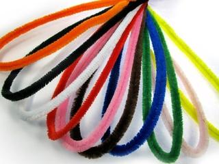 Pfeifenputzer - Pfeifenputzer, Material, basteln, Bastelmaterial, farbig